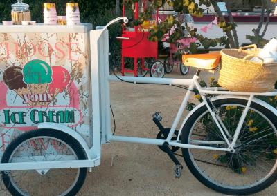 Triciclo servicio helado
